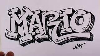 How To Write Cool Letters On Paper Graffiti Writing Mario Name Design 38 In 50 Names Promotion YouTube