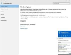 can t install updates or upgrade windows 10 error