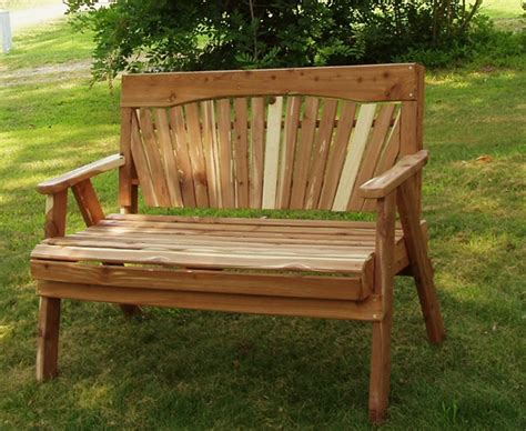 cedar garden benches sliders church pews cedar or redwood
