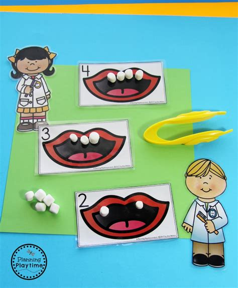 community helpers preschool theme planning playtime 373 | Community Helpers Dentist and Teeth Counting Activity for kids.