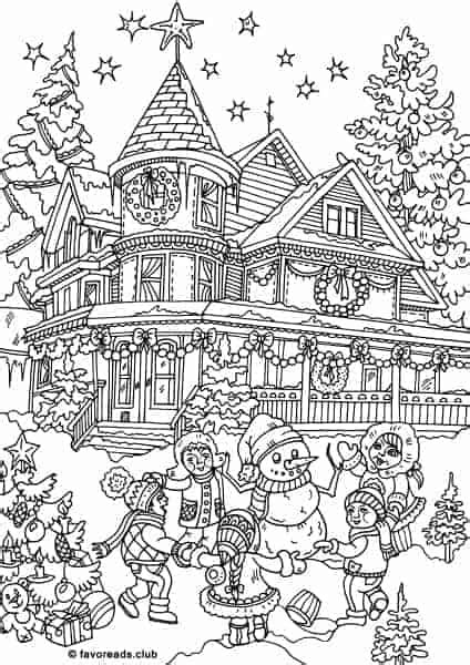 christmas joy dancing   circle printable adult coloring pages  favoreads