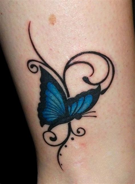 blue butterfly tattoo tattoo pinterest blue