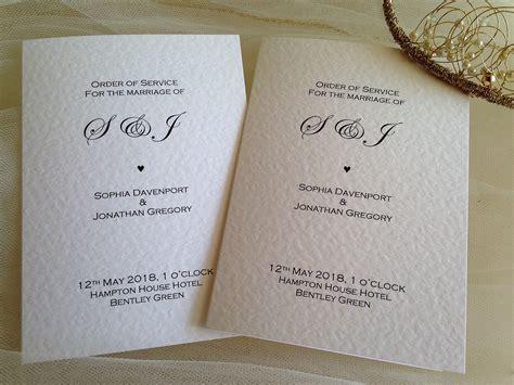 wedding order  service books wedding programs