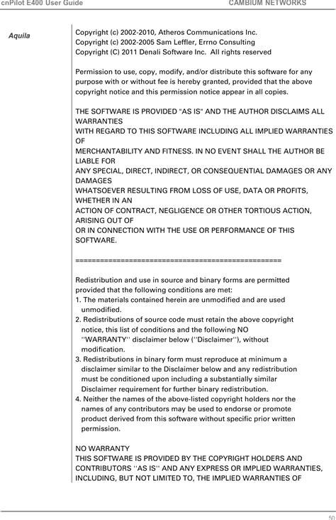 89FT0018 cnPilot Indoor E400 User Manual Cambium Networks