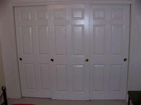 three sliding closet door problem doityourself