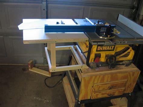 dewalt table  extension  jerrells  lumberjockscom