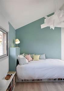 Peinture Mur Chambre : couleur de chambre bleu turquoise bedroom pinterest ~ Voncanada.com Idées de Décoration
