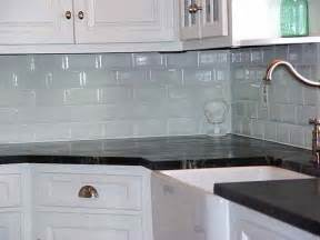 kitchen gray subway tile backsplash glass mosaic tile