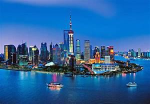 Shanghai Skyline Wall Mural DM135 - TheMuralStore com