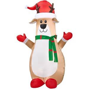 gemmy inflatable airblown reindeer outdoor christmas decoration lowe s canada