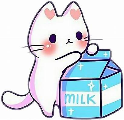 Cat Milk Drawing Emoji Kitten Discord Cartoon