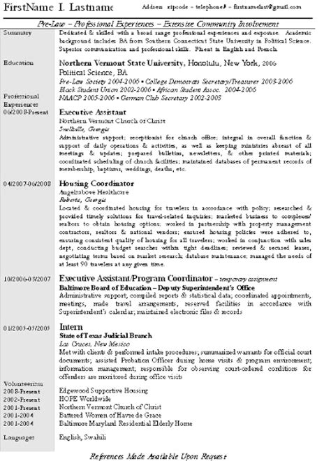 Jd Resume by Pre Candidate Looking For A Jd Best Resume And