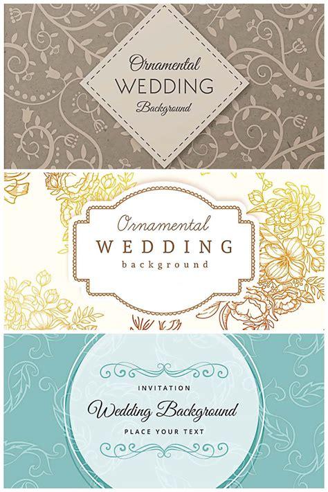 Ornamental wedding retro design background collection