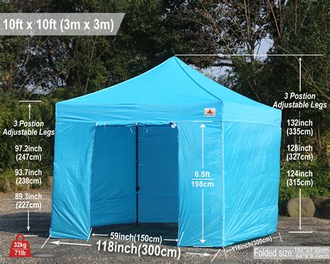 abccanopy easy pop  canopy tent instant shelter deluxe portable market canopy awning sky