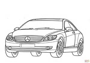 Mercedes-benz Cl-class W216 Coloring Page