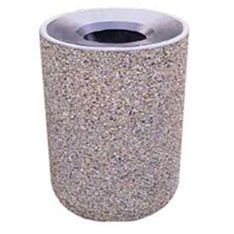 Wausau Tile Trash Can by Garbage Can Recycling Concrete Waste