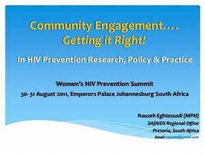 Community Engagement towards HIV Prevention for Women