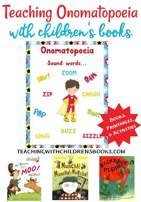 lesson plan for teaching onomatopoeia how to teach onomatopoeia with picture books free printables