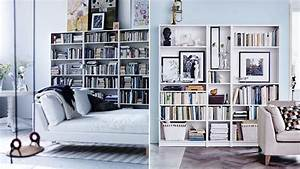 Ikea Bibliothèque Blanche : 15 fina s tt att inreda med bokhyllan billy elle decoration ~ Teatrodelosmanantiales.com Idées de Décoration
