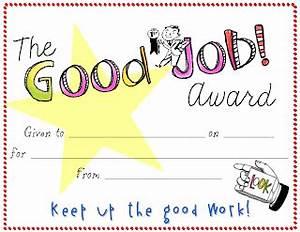 bloggerific weekly response good job With good job certificate template