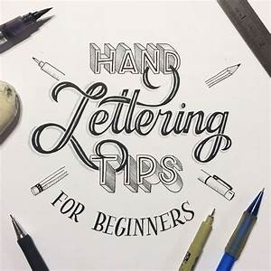 Hand lettering for beginners a guide to getting started for Creative lettering for beginners
