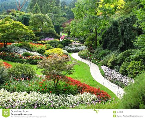 view of sunken gardens royalty free stock images image