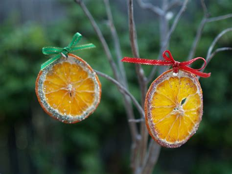 handmade christmas ornaments dried oranges the magic