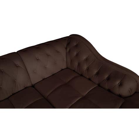 canape marron canapé d 39 angle droit 5 places marron cuir simili pas cher