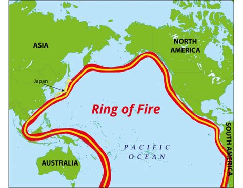 buy pacific ring  fire map