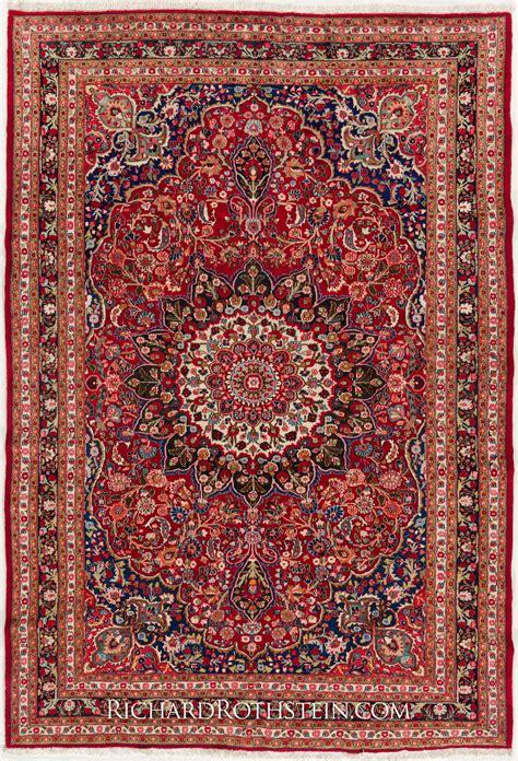 Antique Rugs - antique mashad rug c53d9421