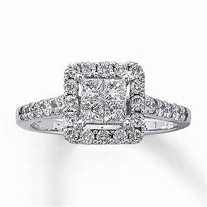 kay diamond engagement ring 1 ct tw diamonds 14k white gold With kay jewlers wedding rings