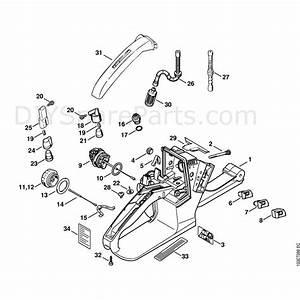 Stihl 026 Chainsaw  026  Parts Diagram  Tank Housing