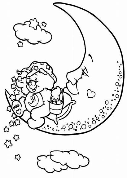 Coloring Care Pages Bears Stars Ice Cream