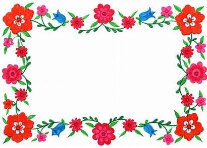 Frame Flower Rectangle Transparent Colorful Floral Frames