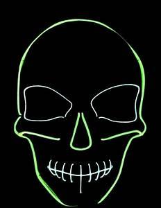 Neon Green Skeleton Mask Masks and fancy dress costumes