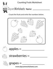 Preschool Counting Worksheets Free Printables
