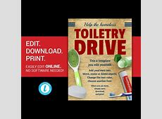 EDITABLE Toiletry Drive flyer homeless drive flyer