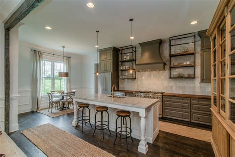 gray rustic  refined kitchen