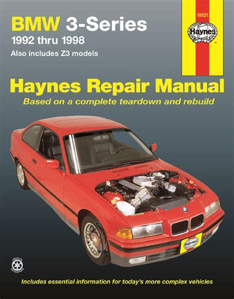 Bmw 3 Series & Z3 Haynes Repair Manual (19921998) Hay18021