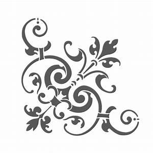 Corner Stencil Reusable Template Simone For Wall Diy Decor