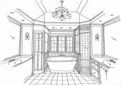 Bathroom Sketch Bath Master Layout Renovation Interior