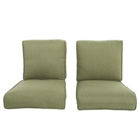 hton bay pembrey replacement outdoor chat chair cushion 2 pack hd14223 the home depot