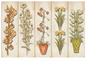 Printable Bookmarks With Plants And Flowers Template