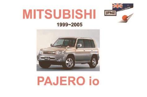 small engine service manuals 2003 mitsubishi pajero engine control mitsubishi pajero io 1999 2005 owners manual engine model 4g94 4g93 9781869761875