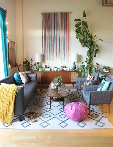 Colorful Living Room Escape by Spaces My Loft Living Room Makeover The Sweet Escape