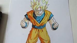 How To Draw Goku Super Saiyan 1 Ssj1 U5b6b U609fu7a7a U8d85u30b5u30a4u30e4u4eba 1 Youtube