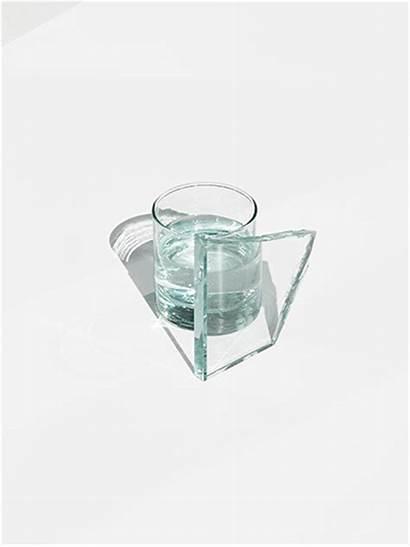 Glass Aesthetics Broken Coaster Fractured Shattered Mirror
