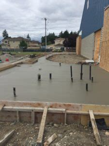 Concrete Is Poured For The Floor Of The New Addition  Tacoma Twin Rinks