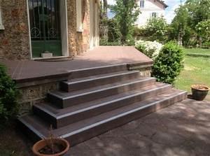 Escalier Terrasse Bois : lame terrasse en bois composite mdsa france marron ~ Nature-et-papiers.com Idées de Décoration
