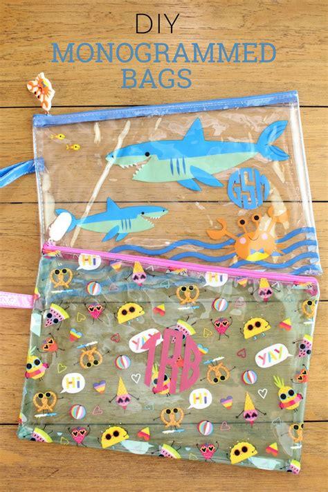 diy monogrammed wet dry bags   target